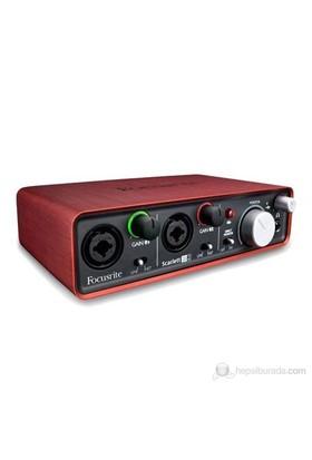 Focusrite Scarlett 2i2 2 Giriş / 2 Çıkış USB Ses Kartı 96 Khz, 24-Bit