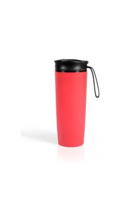 Pratigo Devrilmez&Sızdırmaz Mug Bardak Dış Cephe Kırmızı