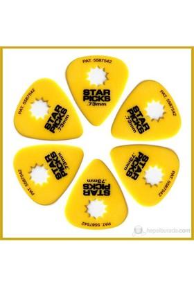 Star Picks Yellow 0.73Mm - 6 Pack Pena