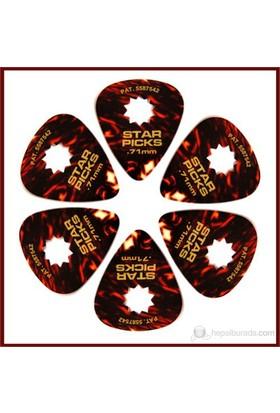 Star Picks Tortoise - Med 0.71Mm - 6 Pack Pena