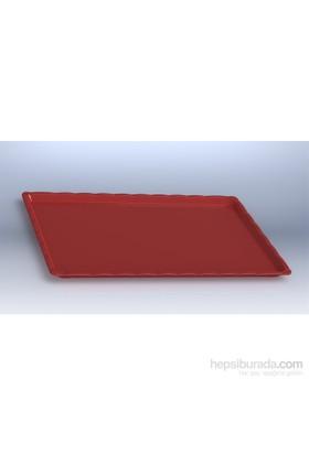 İpekyolu Mutfak Kırılmaz Teşhir Tepsisi No:3 Kırmızı