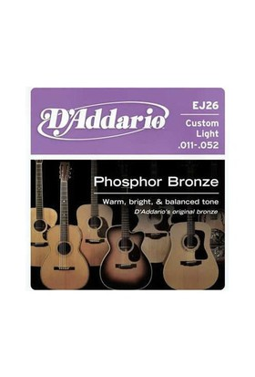Daddario Ej26 Akustik Gitar Tel Custom Light