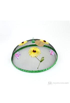 Kancaev Sineklik Yeşil Bordürlü Çiçekli Kelebekli Büyük