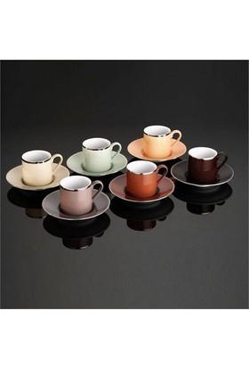 Kütahya Porselen Rüya 12 Parça 6 Kişilik Natürel Kahve Fincan Takımı