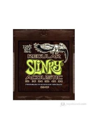 Ernie Ball 2146 - Regular Slinky Acoustic Phosphor Bronze .012 - .054 Akustik Gitar Teli