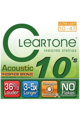 Cleartone Phos-Bronze Ultra Light (10-47) Akustik Gitar Teli
