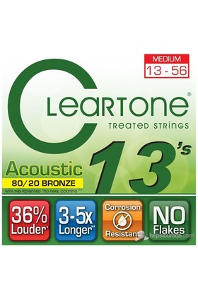 Cleartone 80/20 Bronze Medium (13-56) Akustik Gitar Teli
