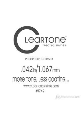 Cleartone Acoustic Phos-Bronze (.042) Emp Akustik Gitar Teli
