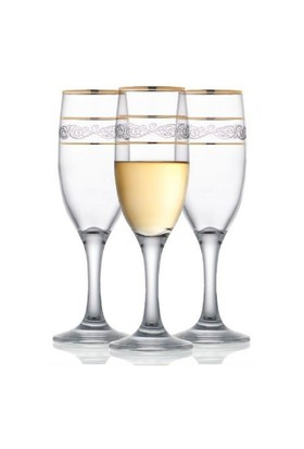 LavAyaklı Meşrubat Bardağı Yaldızlı 6'Lı Mıs535gy