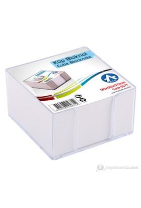 Ark Plastik Küp Bloknot 8,5x8,5 cm + Kağıt
