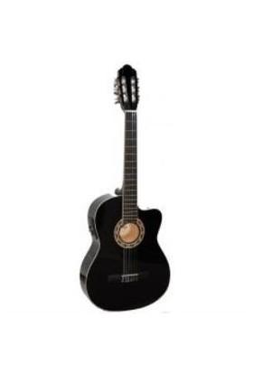 Carissa 37617 Cg-160Ce Bk 4/4 Tam Boy Gitar
