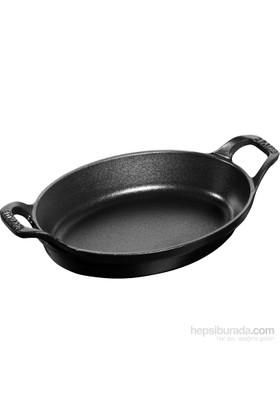 Staub Servis Tabağı Oval 21 Cm Siyah
