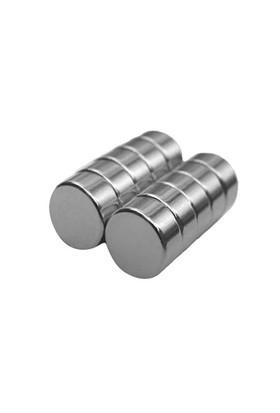 Neodyum Mıknatıs Silindir D15x5 mm (8'li Paket)
