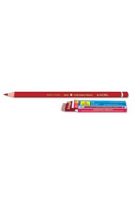 "Adel ""Checking Pencil"" Kırmızı Boya Kalemi 12'li(2132412000)"
