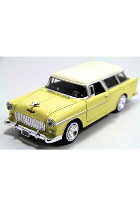 Motormax 1955 Chevy Bel Air Nomad -Sarı 1:24 Model Araba