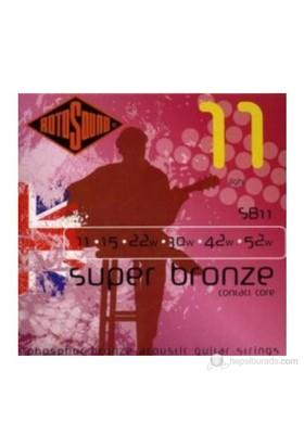 Rotosound SB11 Super Bronze Contact Core 10 Akustik Gitar Teli