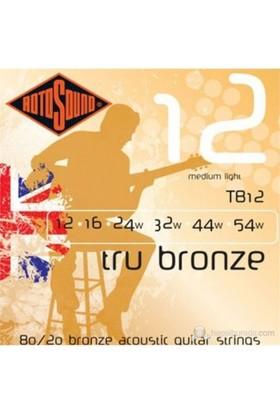 Rotosound TB12 Tru Bronze 10 Ölçü Tel Seti