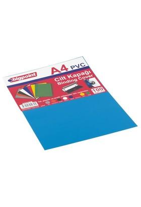 Bigpoint Cilt Kapağı A4 Şeffaf Mavi 100'Lü Bp68835t