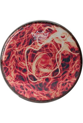 Remo Batter Diplomat Skyndeep Clear Tone 9 Diameter Orange Mist Graphic