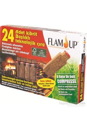 Flam Up Kibrit Başlıklı Teknolojik Çıra 24'Lü