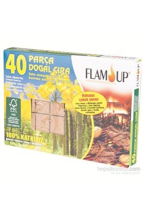 Flam Up Çiçek Özlü Doğal Çıra 40'Lı