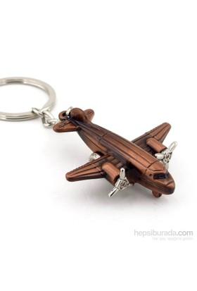 Solfera Pervaneli Uçak Bronz Metal Anahtarlık Kc525