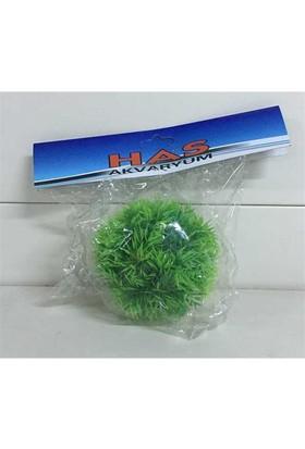 Akvaryum Dekoru Plastik Bitki Küçük Top