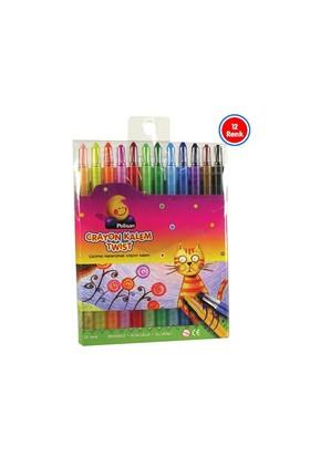 Polisan Pastel Crayon Boya Kalemi Twist 12 Renk