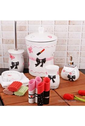 İhouse Polyester 6 Li Banyo Seti