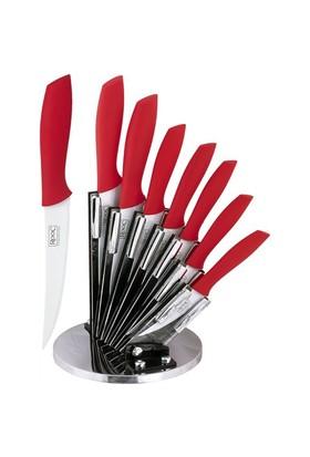 Rooc Bıçak Stand Cs003 7'Li Set Kırmızı