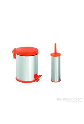 Baneva Banyo Seti 2'Li Kırmızı Plastik Kapaklı 3 Litre