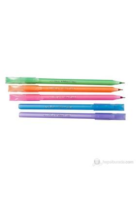 Proteks Vogue 1,00 mm Renkli Tükenmez Kalem 5 Li Set (Karışık Renk)