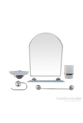 İpekel 6 Parça Ayna Takımı Krom