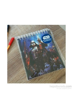 Star Wars Darth Vader Spiral Musical Notebook Müzikal Defter