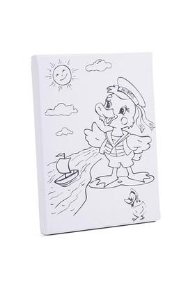 Desenli Tuval 24X30cm - Ördek