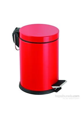 Baneva Pedallı Çöp Kovası Kırmızı 5 Litre