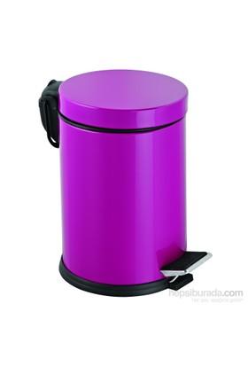 Baneva Pedallı Çöp Kovası Fuşya 16 Litre