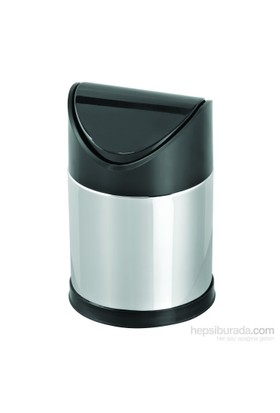 Baneva Masa Üstü Sallanır Kapak Çöp Kovası Siyah Kapak