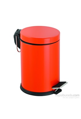 Baneva Mikro Pedallı Çöp Kovası Turuncu 3 Litre