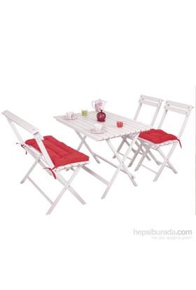Prado Bank Sandalye Minder Seti Kırmızı