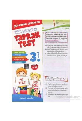 3. Sınıf Tüm Dersler Yaprak Test-Kolektif