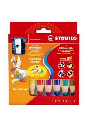 Stabilo Woody 3in1 6 Renk + Kalemtraş