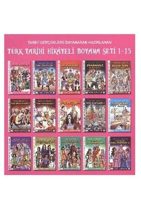 Türk Tarihi Hikayeli Boyama Kitapları Seti 1-15