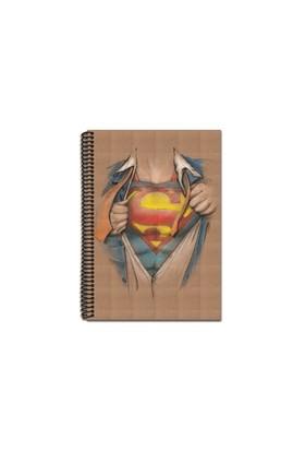 Mynote Superman Kraft Defter A4 100 Yp. Kareli SM1001-K