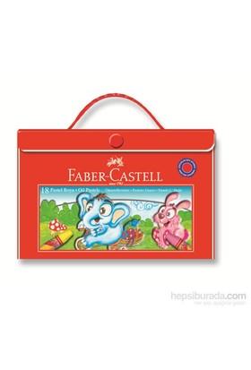 Faber-Castell Plastik Çantalı Tutuculu Pastel Boya, 18 Renk (5281125119)
