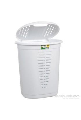 Hobby Life Oval Kirli Çamaşır Sepeti (48 Lt) - Beyaz