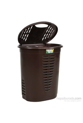 Hobby Life Oval Kirli Çamaşır Sepeti (48 Lt) - Kahverengi