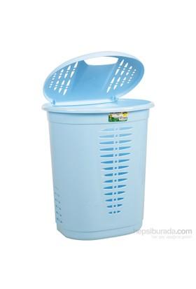 Hobby Life Oval Kirli Çamaşır Sepeti (48 Lt) - Mavi