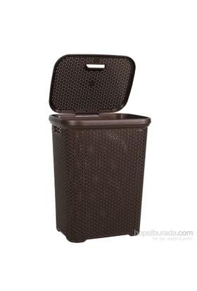 Hobby Life Rattan Kirli Çamaşır Sepeti(55 Lt) - Kahverengi