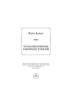 Yunan Kültüründe Yakındoğu Etkileri-Walter Burkert